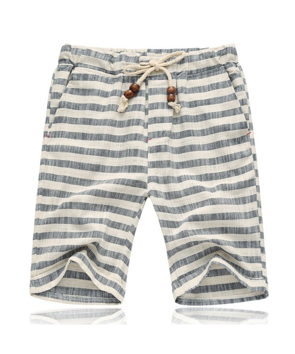 Summer Casual Drawstring Striped Shorts