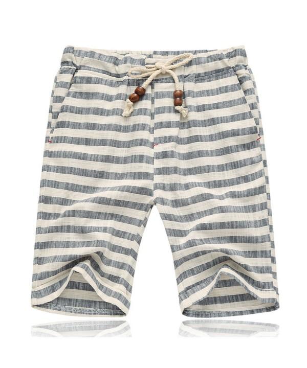 Summer Casual Drawstring Striped Shorts