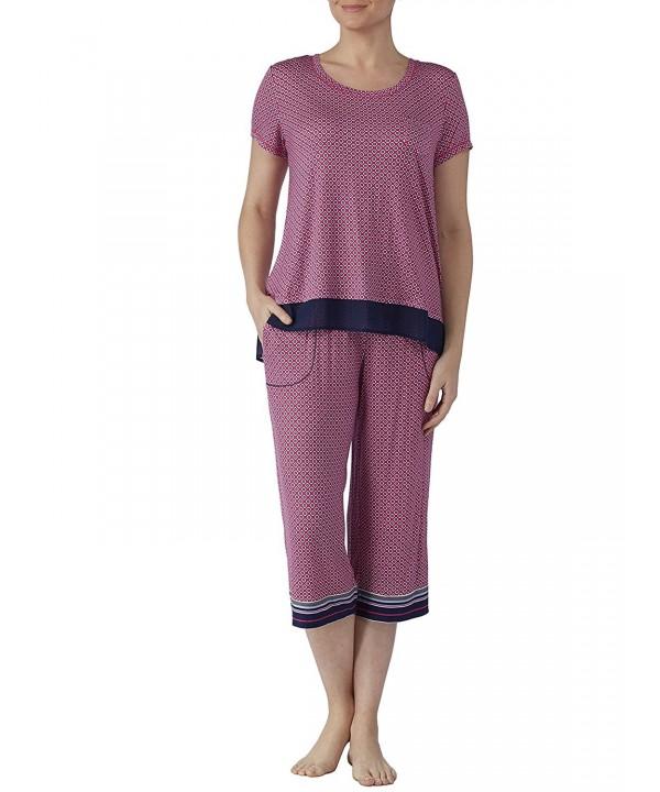 Fuchsia Burst Print Design Pajama
