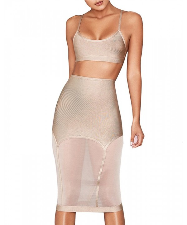 UONBOX Womens Pieces Bodycon Bandage