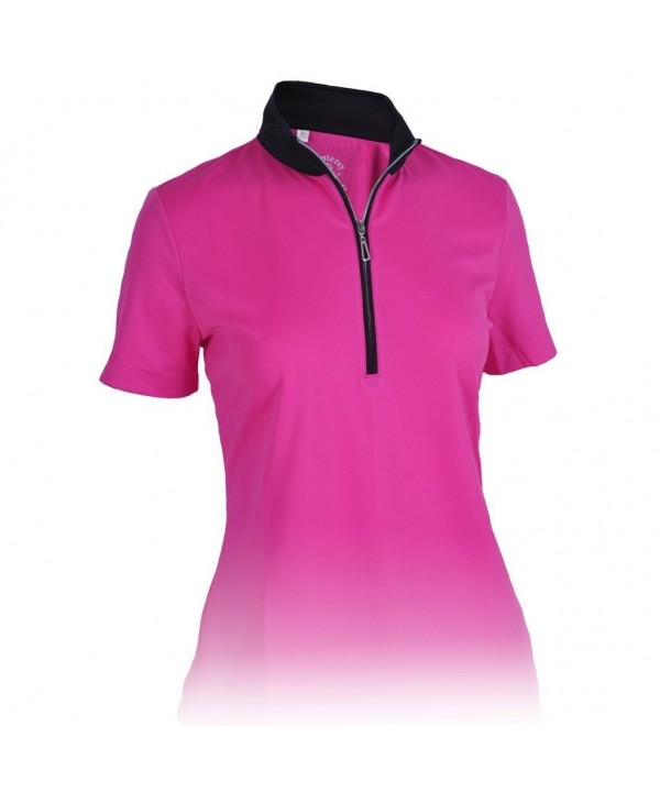 Monterey Club Ladies Contrast Raspberry