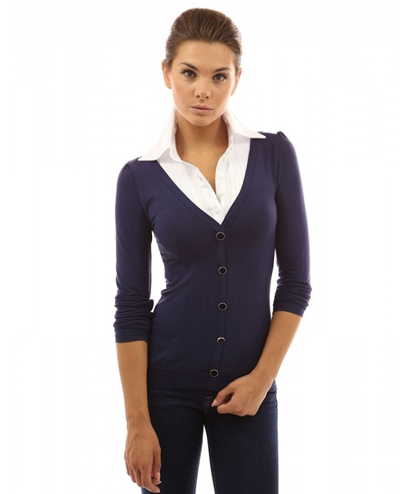 PattyBoutik Womens Shirt Collar Pleated