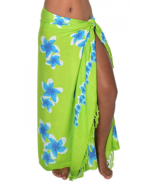 Movements Plumeria Swimsuit Coverup Turquoise