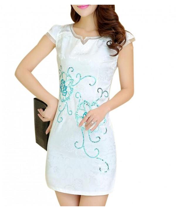 Aro Lora Womens Cheongsam Dresses