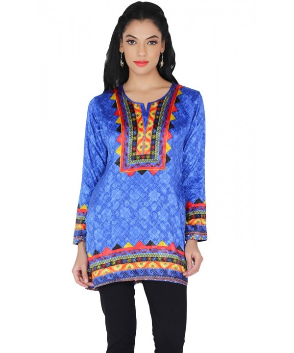 c5c09d44e29 Indian Kurti colorful Tunic Top Printed Womens Blouse India Clothes ...