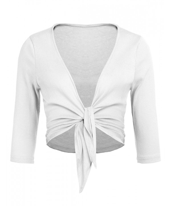 Concep Womens Cropped Bolero Cardigans