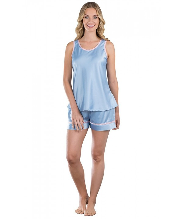 PajamaGram Womens Dreamy Satin Short