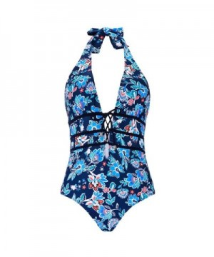 Floral Halter Swimsuit Bathing Printing M
