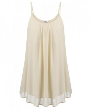 Womens Vintage Pleated Camisole Apricot
