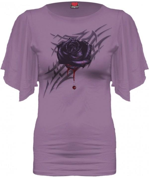 Spiral Womens Black Sleeve Purple
