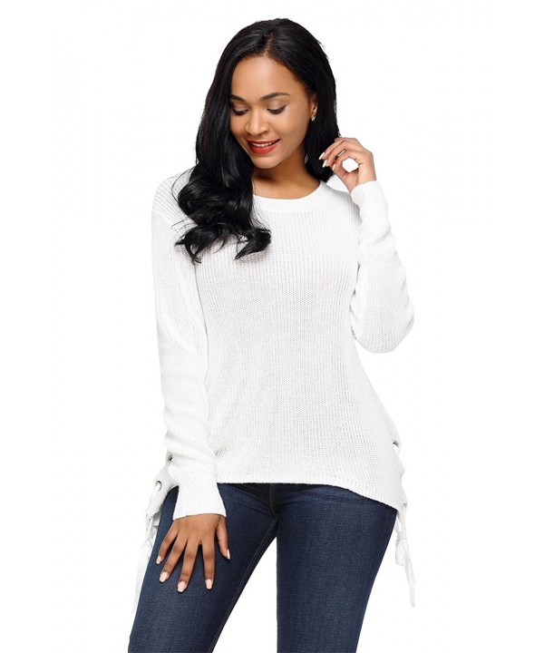 Sexybody Womens Irregular Pullover Sweater