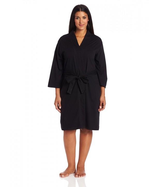 Jockey Womens Plus Size Robe Black
