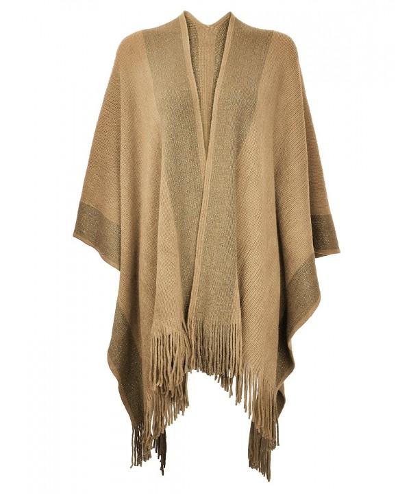 ZLYC Womens Golden Blanket Cardigan