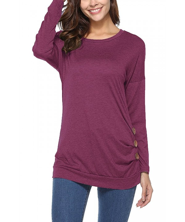 Nowyi Womens Sleeve Button Casual