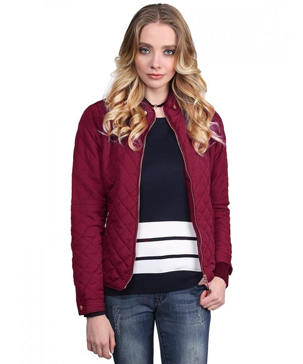 Awesome21 Quilted Puffer Jacket Burgundy
