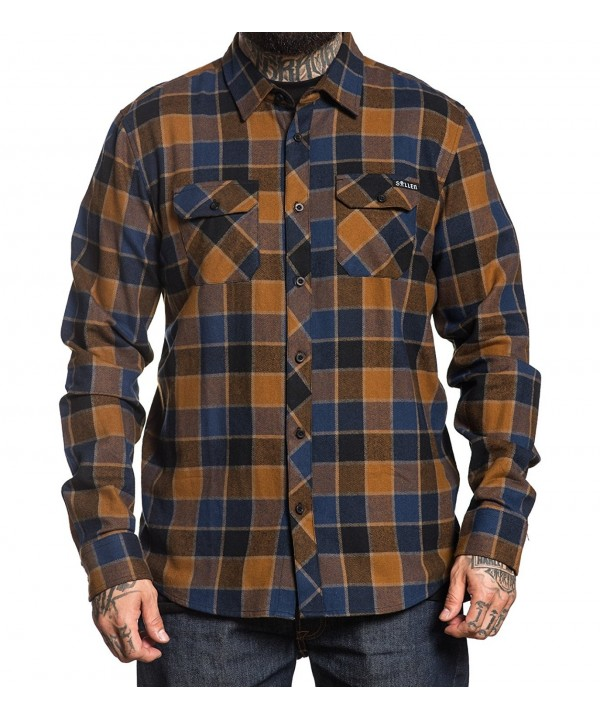 Sullen Wrench Button Flannel Orange
