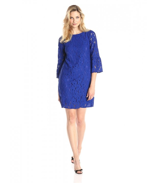 AGB Womens Sleeve Scoop Dress
