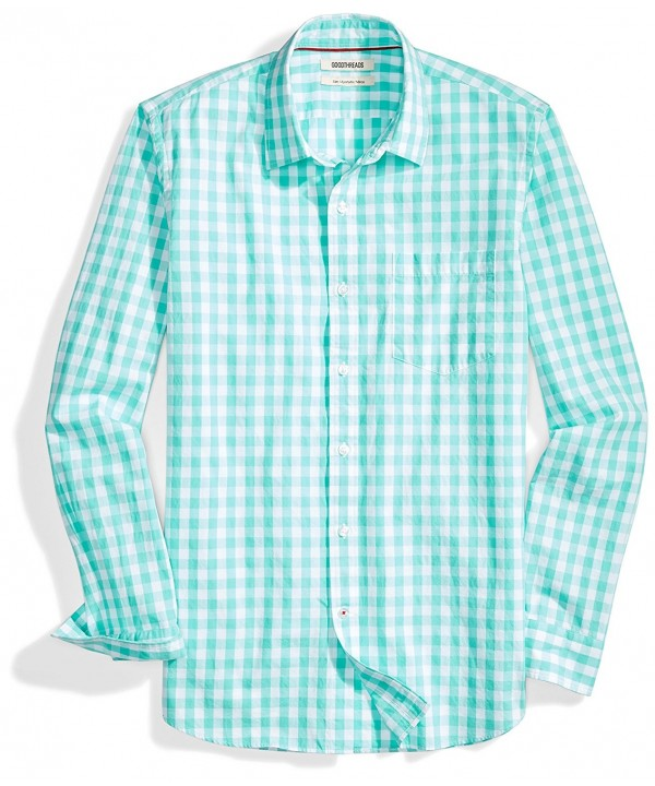 Goodthreads Slim Fit Long Sleeve Large Scale Gingham