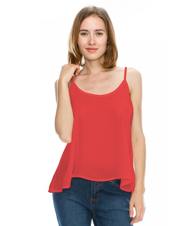 Womens Sleeveless Chiffon Blouse Top Dark