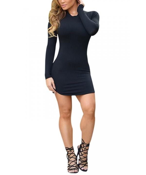 Womens Sleeve Shirt Dress Black