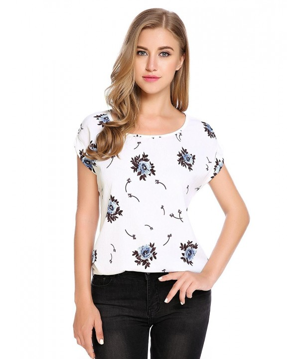 Soteer Womens Floral Printed Chiffon