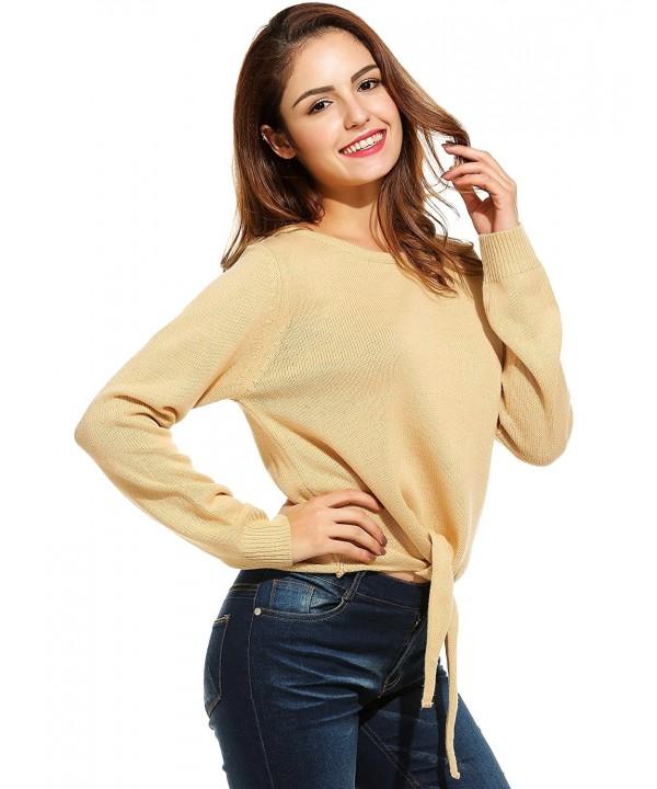 SE MIU Sleeve Pullover Sweater