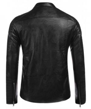 Men's Faux Leather Coats Outlet