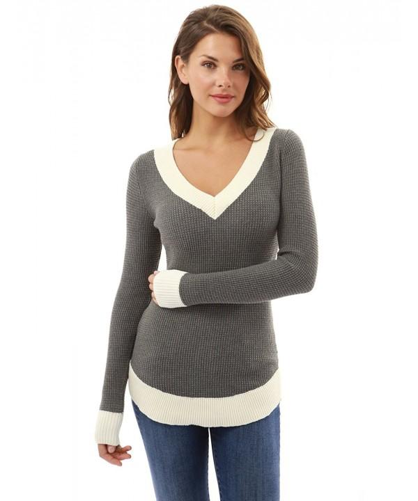 PattBoutik Womens Sleeve Curve Sweater