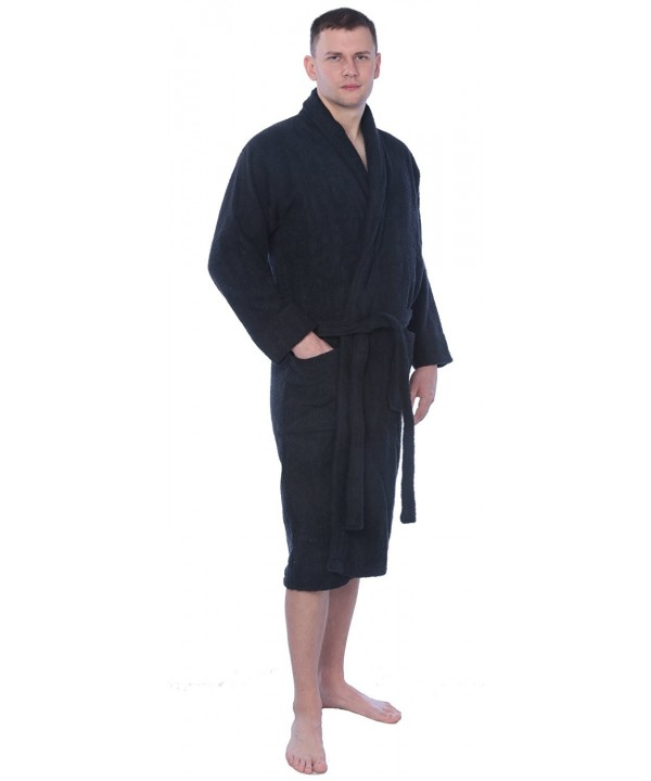d66c6ad6f3 ... Men s 100% Cotton Shawl Collar Robe Terry Cloth Bathrobe Available In  Plus Size - Solid Black - CW1898HEN2S. On sale! New. Beverly Rock Bathrobe  ...