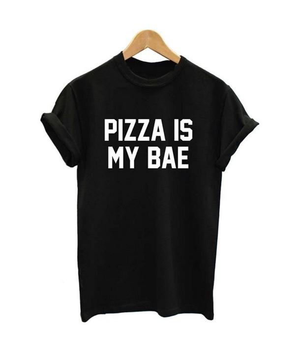 PIZZA Letter Women Casual T shirt