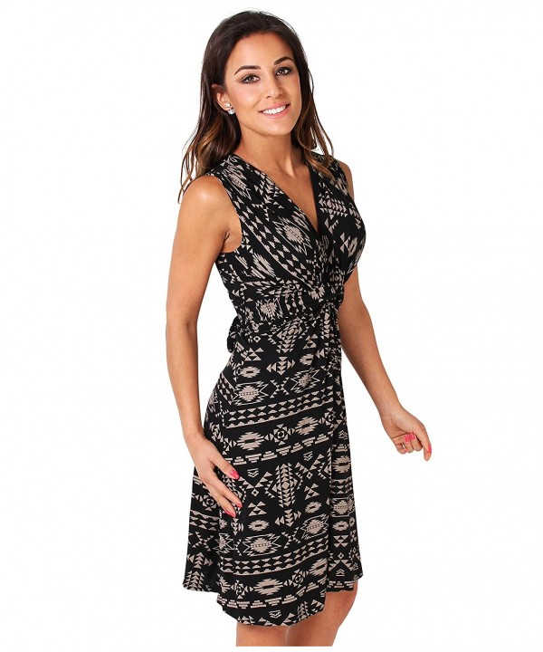 KRISP NWU6607 MOCBLK 16 2 Contrast Dress FBA_USA6607 MOCBLK 16