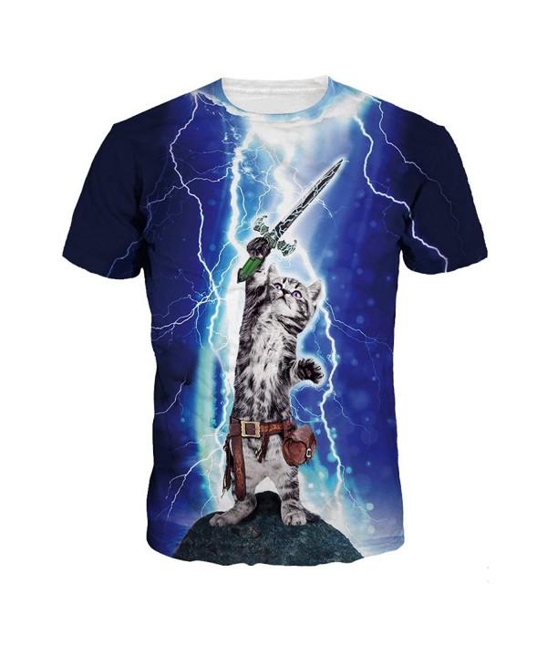 ColorFino Printing Lightning T shirt Clothing