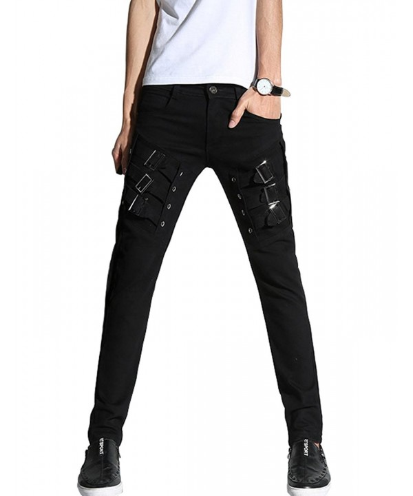 DSDZ Motocycle Skinny Pants Black