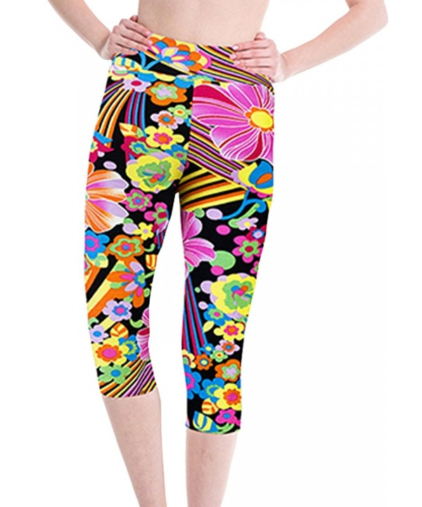 Womens Printed Sports Workout Leggings