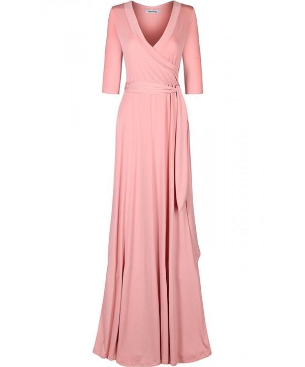 Bon Rosy Womens Sleeve V Neck