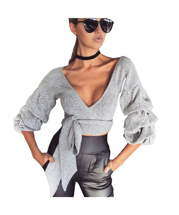 Weigou Bandage Cardigan T Shirt Surplice