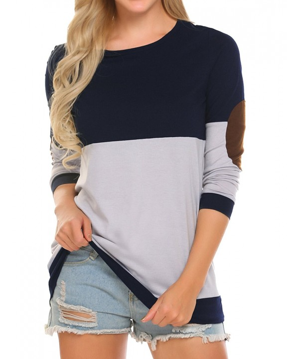 bubblebelle Womens Casual Crewneck Sleeve