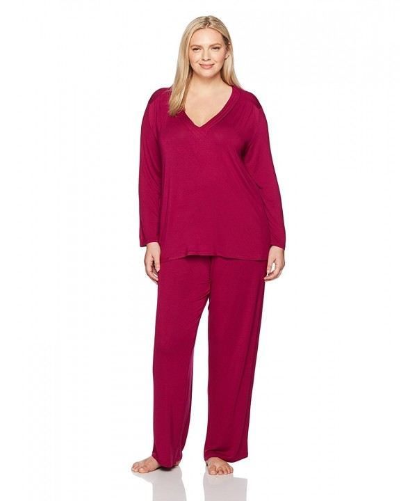 Arabella Womens Sleeve Pleated Pajamas