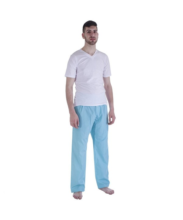 Mens Pajama Woven White Medium