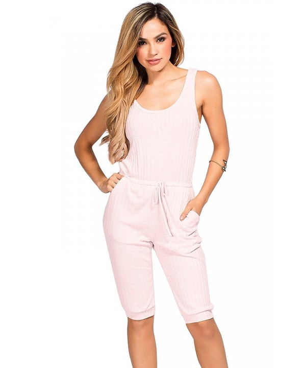 Babe Society Womens Sleeveless Jumpsuit
