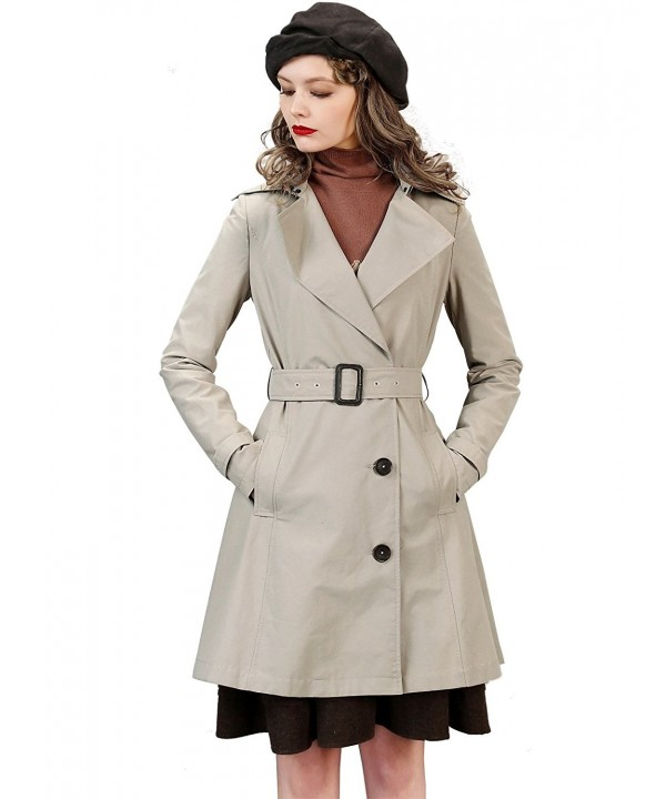 Artka Womens Fashion Trenchcoat Pockets