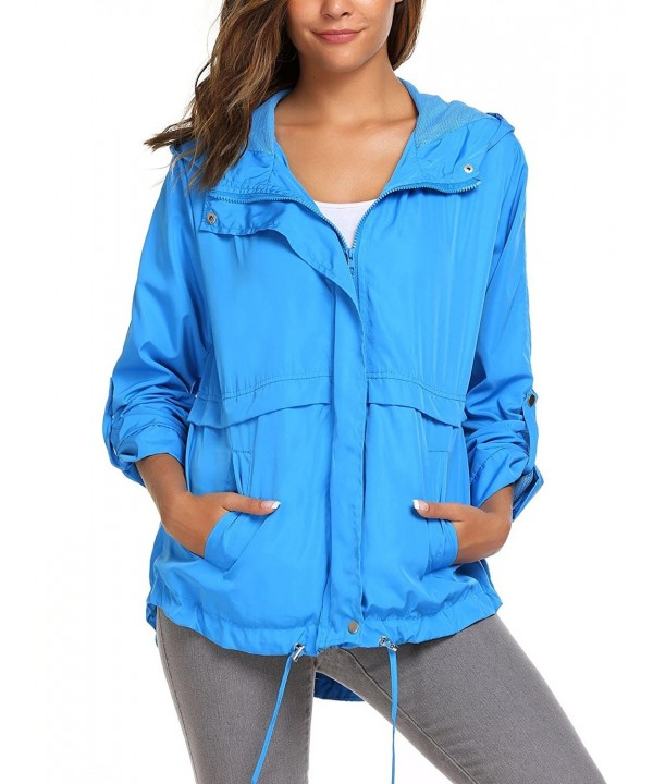 Yiilove Lightweight Waterproof Windproof Windbreaker