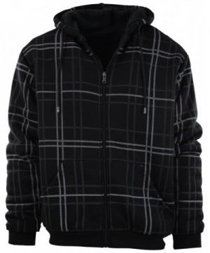 Zipper Fleece Hoodie Designs 91001 Black