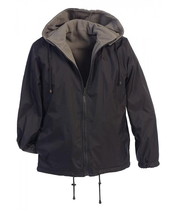 Gioberti Reversible Jacket Fleece Charcoal