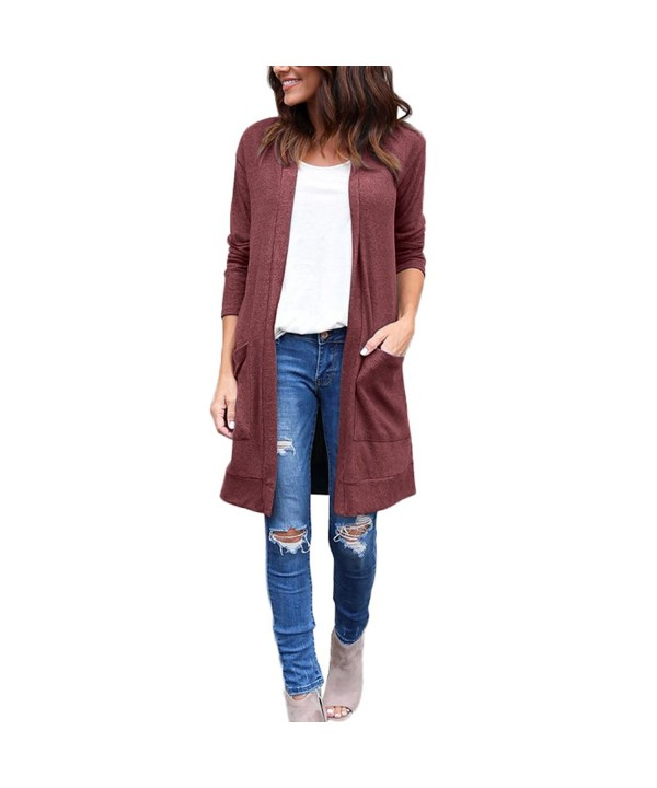 GINVELL Womens Sweater Outwear Cardigans
