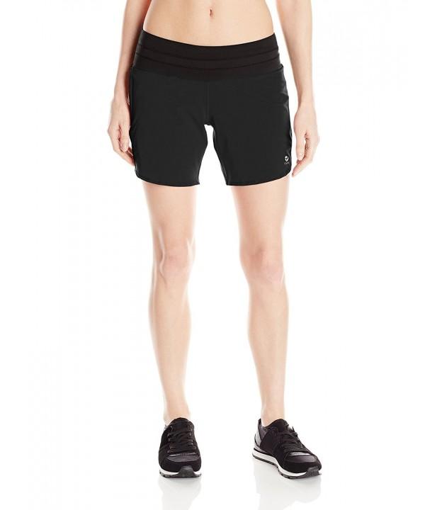 Oiselle Womens Long Shorts Black