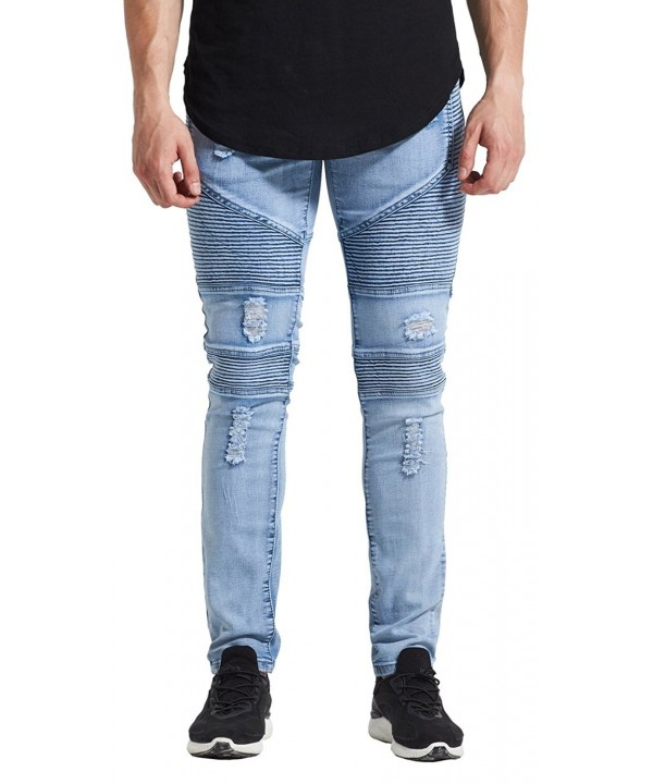 Mrpick Stretch Ripped Distressed Destroyed
