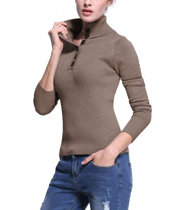 Roco Rose Womens Turtleneck Sweater