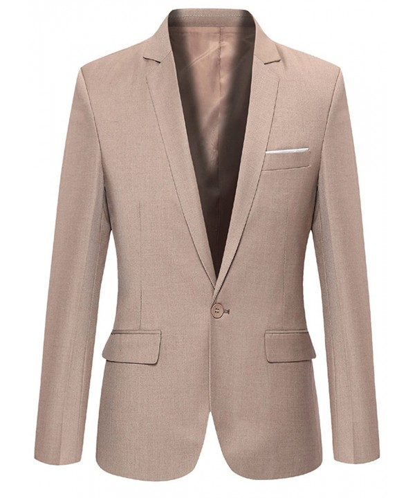 FEHAAN Casual Button Business Blazers
