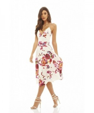 AxParis Womens Strappy Floral Skater